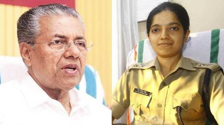 Pinarayi Vijayan, Pinarayi Vijayan slams IPS officer, Chaitra Teresa John, IPS officer searches CPI(M) office, LDF government, DYFI, India news, Indian Express