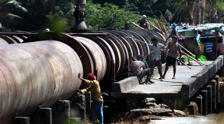 The civic body has already completed 80 per cent of the work on the 950 m long storm water drain, but it has come across the water main line that supplies to Dadar-Parel areas.