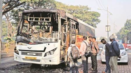 After PMPML buses, now state transport utility's Shivshahi bus catches fire