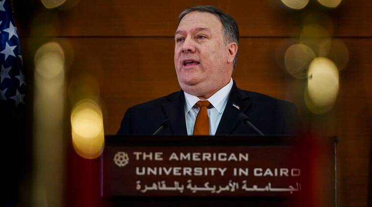 In Cairo, Mike Pompeo blasts Obama's Middle East policies