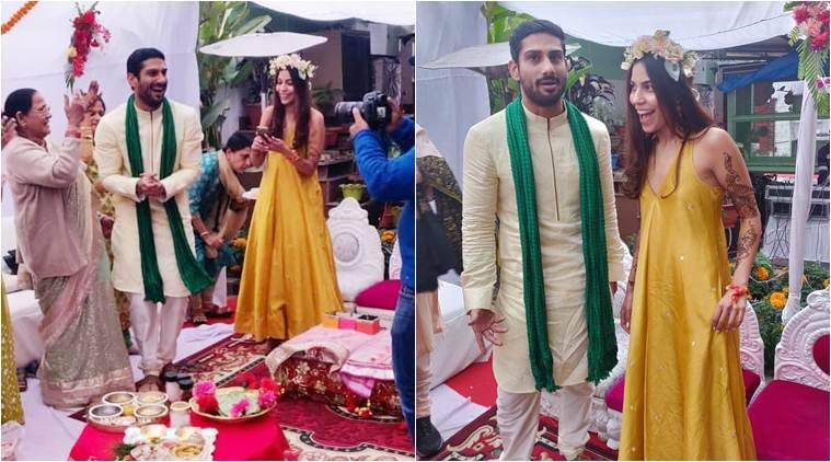 Prateik Babbar and Sanya Sagar Look Radiant at Mehendi Ceremony