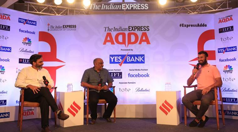 Cheteshwar Pujara at Express Adda in Mumbai on January 21, 2019.