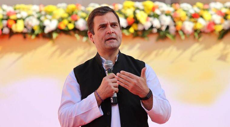 Rahul Gandhi, minimum income gurantee, minimum income promise congress, minimum income gurantee, loksabha elections, elections 2019, elections 2019 rahul gandhi, minimum income poll promise, indian express, latest news