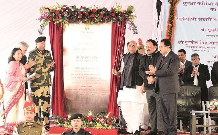 Rajnath Singh inaugurates revamped viewers' gallery at Wagah border