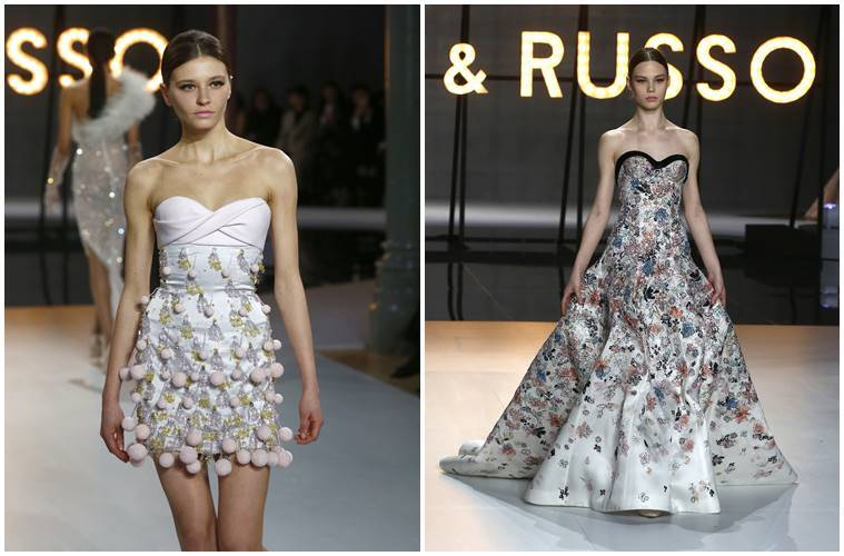 Ralph and Russo, Ralph and Russo couture show, tamara Ralph, michael Russo, Ralph and Russo Couture's Spring 2019 collection, Ralph and Russo couture show paris, Ralph and Russo women's collection, Ralph and Russo bridal collection, Ralph and Russo latest collection, Ralph and Russo fashion show 2019, Ralph and Russo spring 2019 fashion show, indian express, indian express news