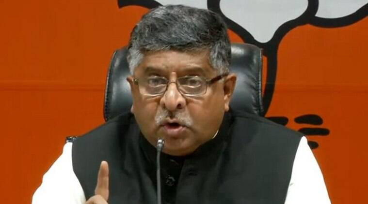 article 370, ravi shankar prasad, Article 370 shield for terrorists, prasad article 370, jk special status revoked, article 370 abrogated, kashmir news, indian express