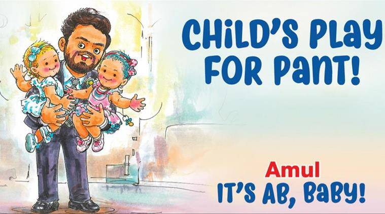 Amul Lauds Rishabh Pant S Babysitting Act With This Cartoon Trending News The Indian Express