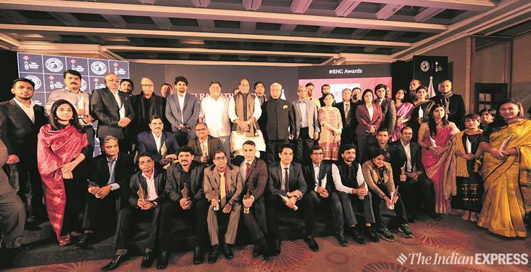Ramnath goenka awards, Ramnath goenka awards, RNG awards, Rajnath Singh, Ramnath goenka awards Rajnath singh, RNG awards Rajnath singh, RNG awards winnners, Ramnath goenka awards winners list, indian express, latest news