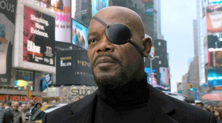 ssamuel l jackson as nick fury in marvel