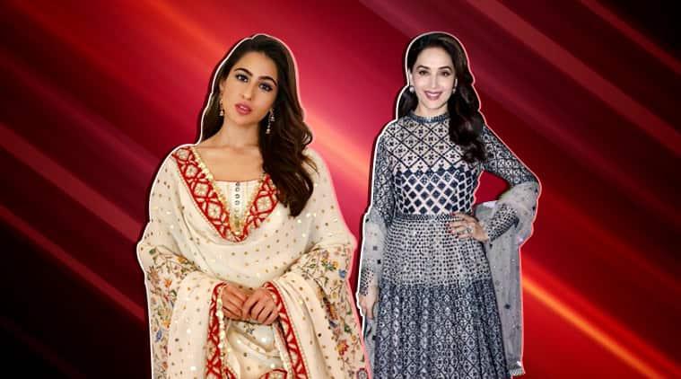 sara ali khan, sara ali khan pics, sara ali khana photos, sara ali khan fashion, vidya balan pics, vidya balan photos, vidya balan fashion, Madhuri dixit pics, bollywood ethnic wear, bollywood fashion, bollywood designer clothes, indian express, indian express news