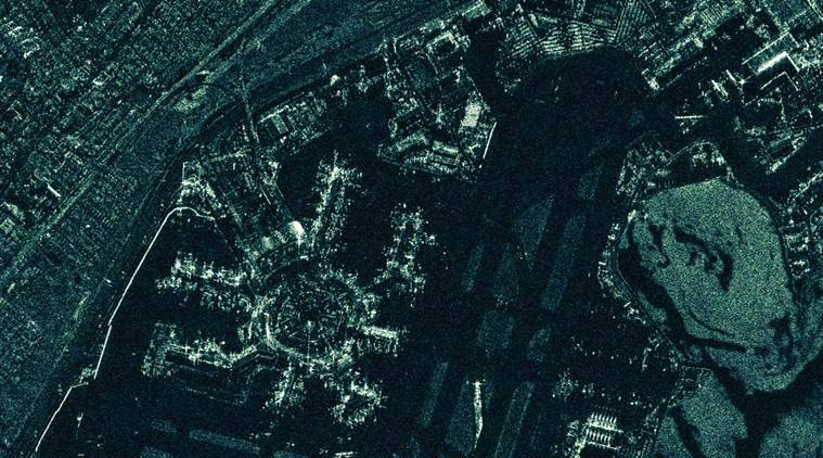 An image of San Francisco taken by a satellite launched into orbit in 2018, by the Finnish company Iceye.