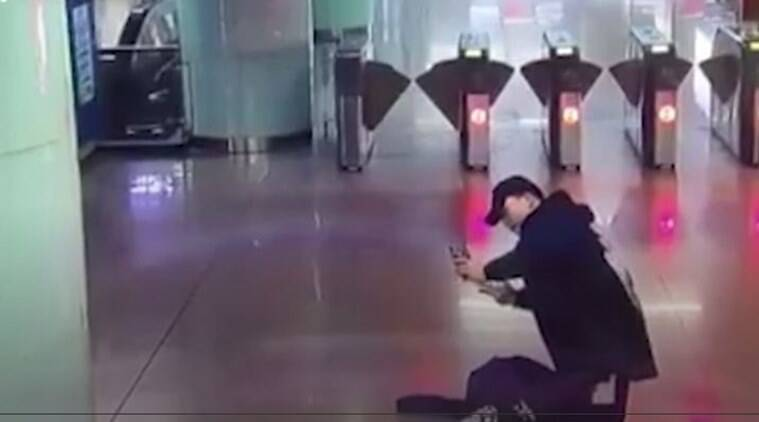 funny drunk videos, friend prank drunk man, funny chinese video, viral video, drunk friends, trending globally, indian express