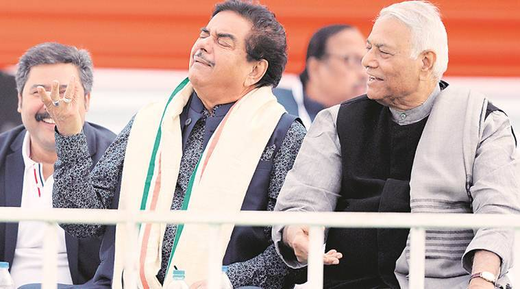 mamata banerjee, shatrughan sinha, arun shourie, yashwant sinha, tmc brigade rally, opposition rally in brigade grounds, opposition united in west bengal, opposition rally in west bengal, kolkata news, indian express