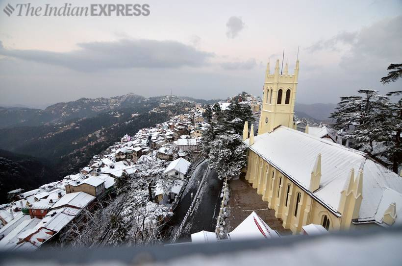Tourists rejoice as Shimla, Manali witness another spell of snow