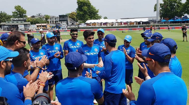 Shubman Gill received his India cap from MS Dhoni in Hamilton ahead of fourth ODI against New Zealand.