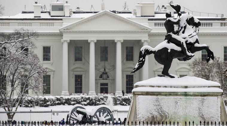US, storm, snow, rain, ice, snowfall, snowfall in us, white house, washington, illinois, kansas city, twitter, world news, indian express news