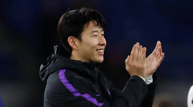Son Heung-min trains with South Korea at the Asian Cup
