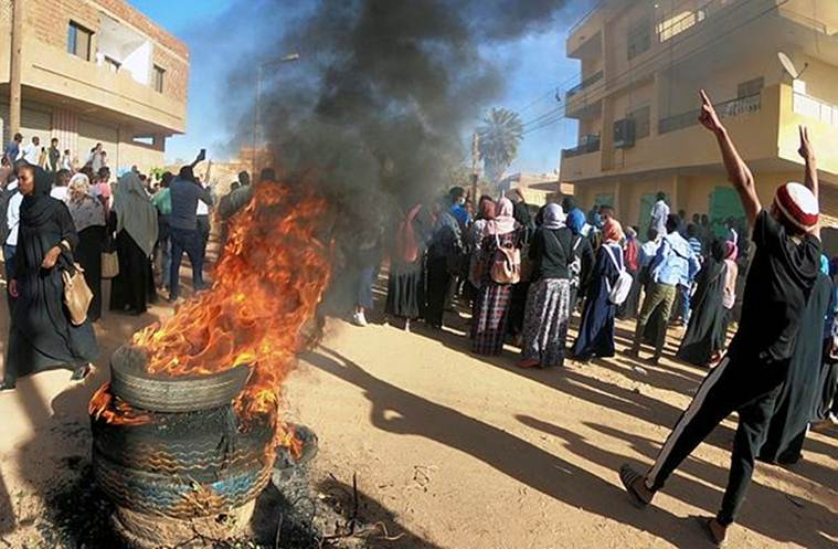 Protests in Sudan, Sudan conflict, Omar al bashir's rule, autocratoc rule in sudan, uprising in Sudan, Human rights violation sudan, Sudan unrest, World news, Indian express