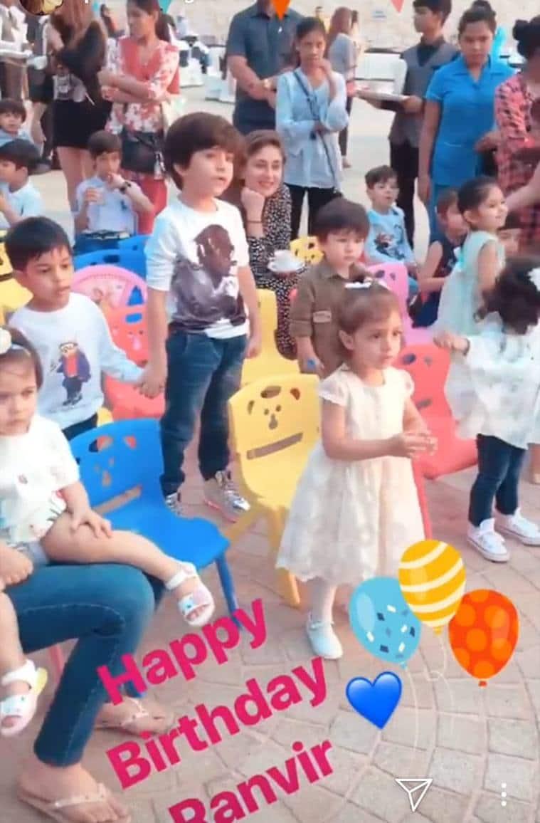 taimur, inaaya at birthday party