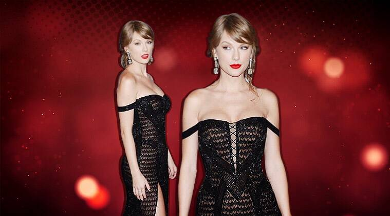 Golden Globe Awards 2019: Taylor Swift stuns in a black sequin outfit from Versace