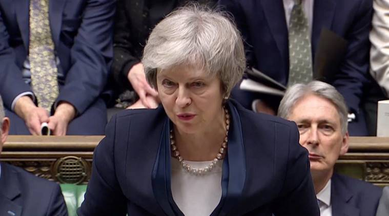 Theresa May in Brussels again, seeking Brexit movement
