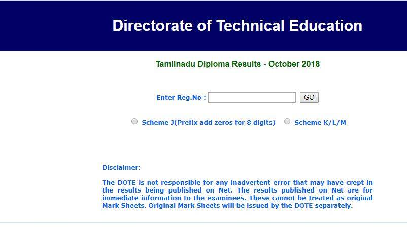 tndte result 2018 date, tndte result 2018, tndte result, tndte diploma result