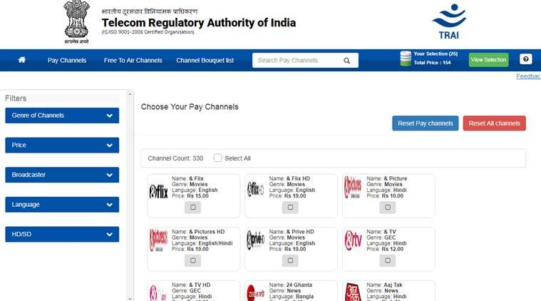 trai, trai app, trai channel selector app, trai channel selector app download, trai new rules for dth, trai new rules, trai dth new rules, tata sky, tata sky bill