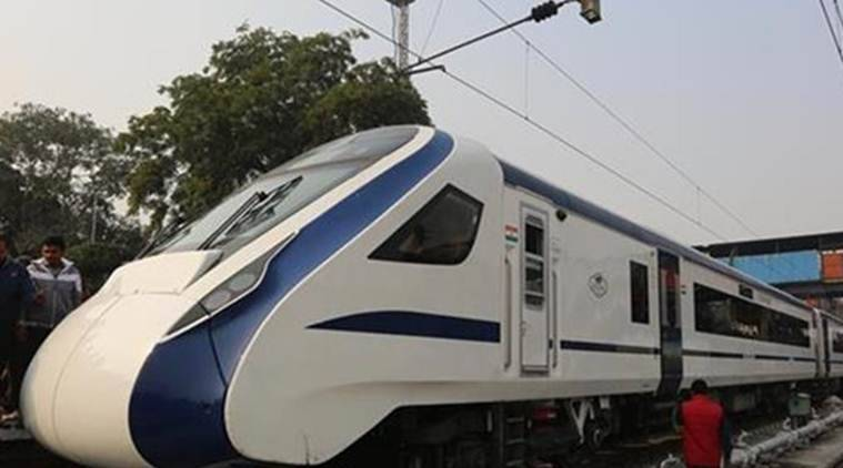 Train 18 is set to run between Delhi and Varanasi at a maximum speed of 160 kmph. (Express photo)