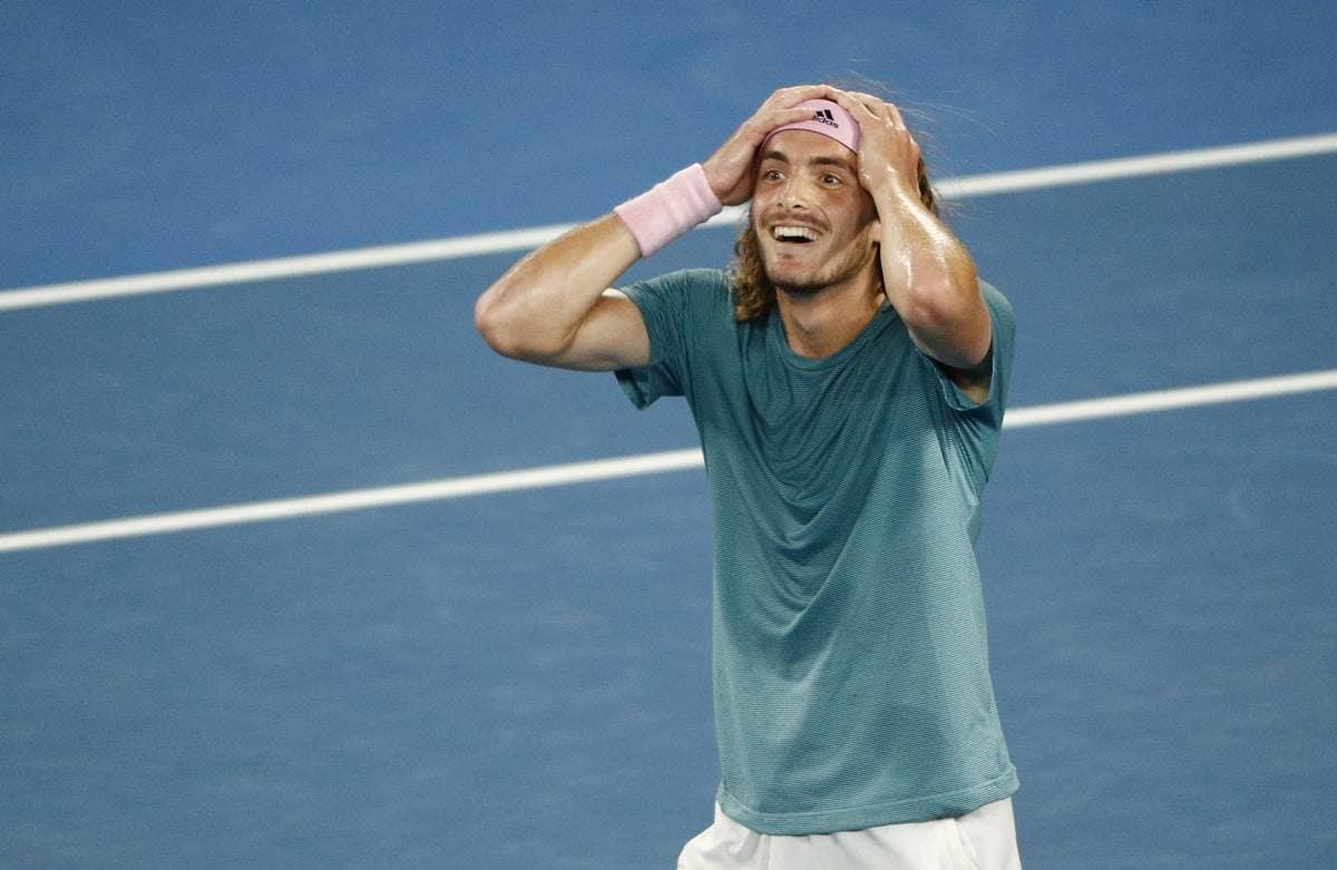 Australian Open 2019 20 Year Old Stefanos Tsitsipas Stuns Defending Champion Roger Federer Sports News The Indian Express