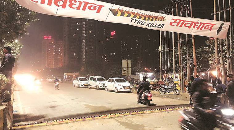 Tyre killers' to check traffic violations in Noida's Sector 77 | The