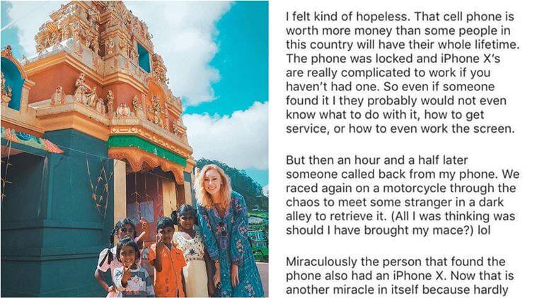 mind body colleen, us blogger racist indian post, us blogger lost iphone Instagram post, us blogger calls indian poor, viral news, indian express