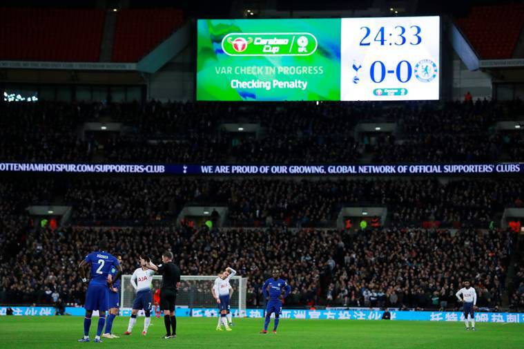 VAR was brought into use during the Spurs vs Chelsea game in the League Cup