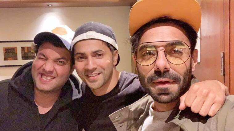 varun dhawan with aparshakti khurrana