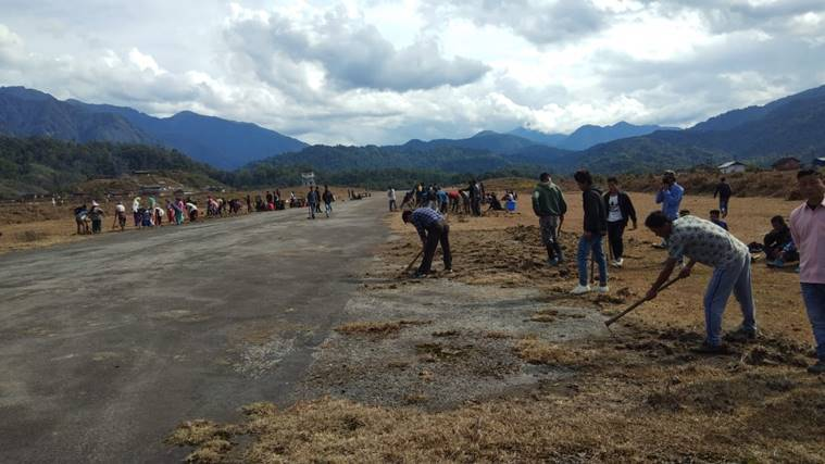 Arunachal villagers do 'shramdaan' to get airstrip operational for IAF