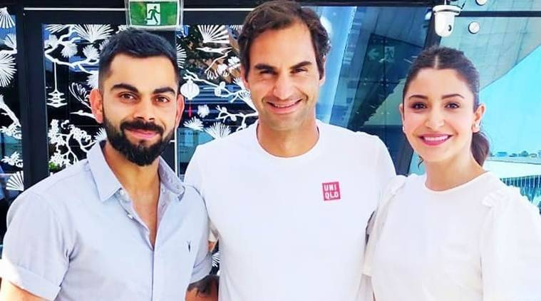 Virat Kohli, Anushka Sharma meet sports icon Roger Federer