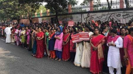 kerala women's wall, women wall, kerala wall, vanitha mathil, sabarimala row, sabarimala temple, women entry, sabarimala issue, lord ayyappa temple,indian express