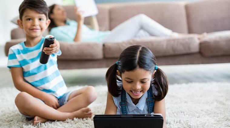 children screen time, children watching tv, time spent by children before tv, health affects of watching tv by children, children health disadvantages, indian express, indian express news