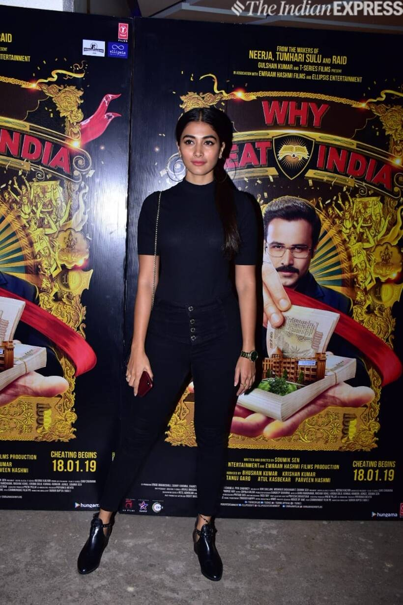 Pooja hegde at why cheat india screening