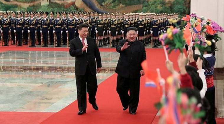Chinese President Xi Jinping holds a welcoming ceremony for North Korean leader Kim Jong Un before their talks at the Great Hall of the People in Beijing, China. (Reuters)