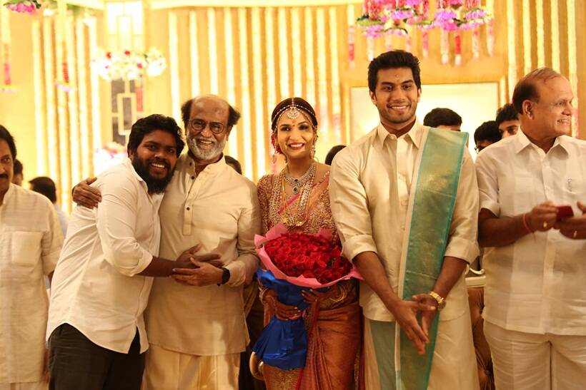 Pa Ranjith at soundarya rajinikanth Vishagan Vanangamudi's wedding