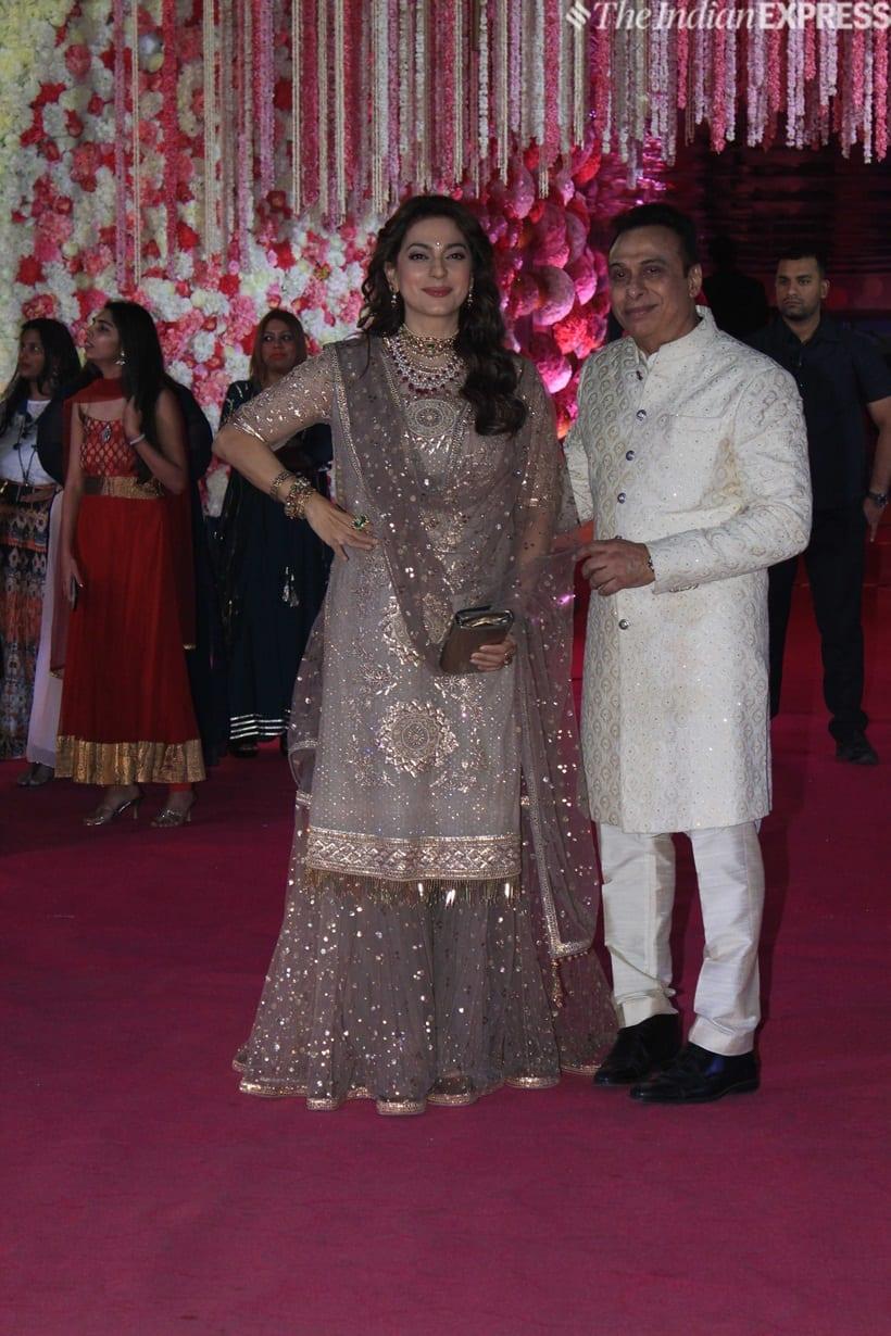 juhi chawla at azhar morani wedding