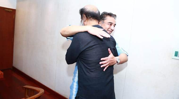 Rajinikanth meets Kamal Haasan, invites to daughter's wedding