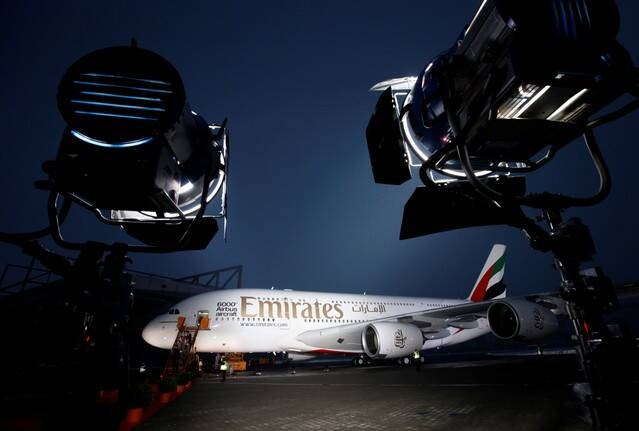 Airbus A380 aircraft for Emirates Airline