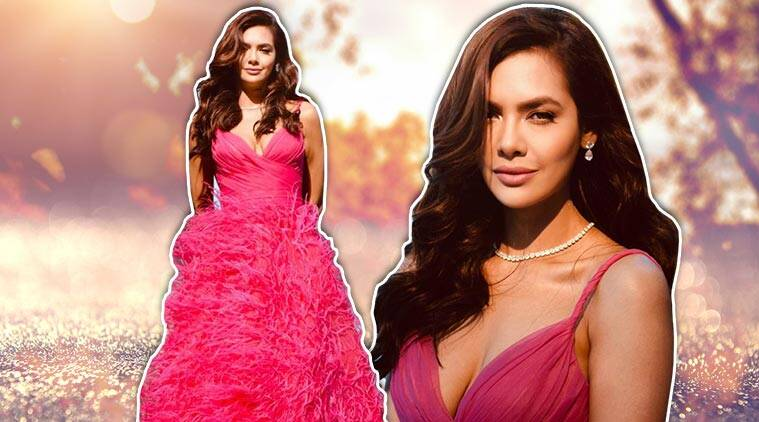Esha Gupta Looks Ravishing In This Bright Pink Gown; See Pics