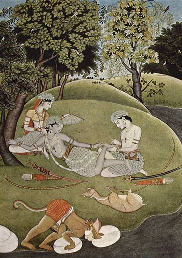 A painting from the Kangra School