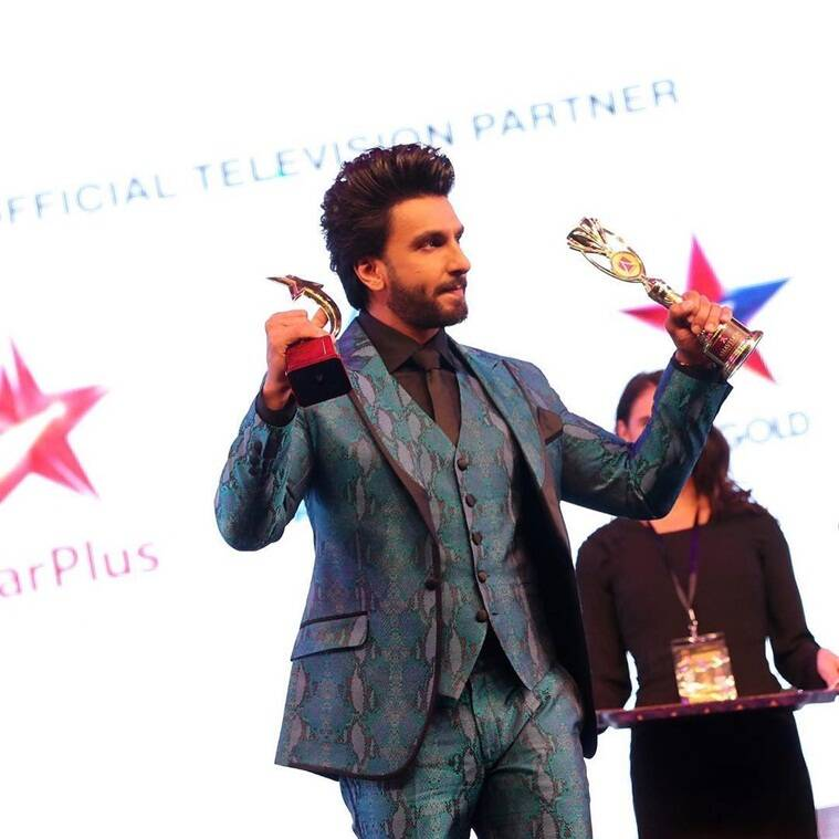 ranveer singh wins an award for Padmaavat