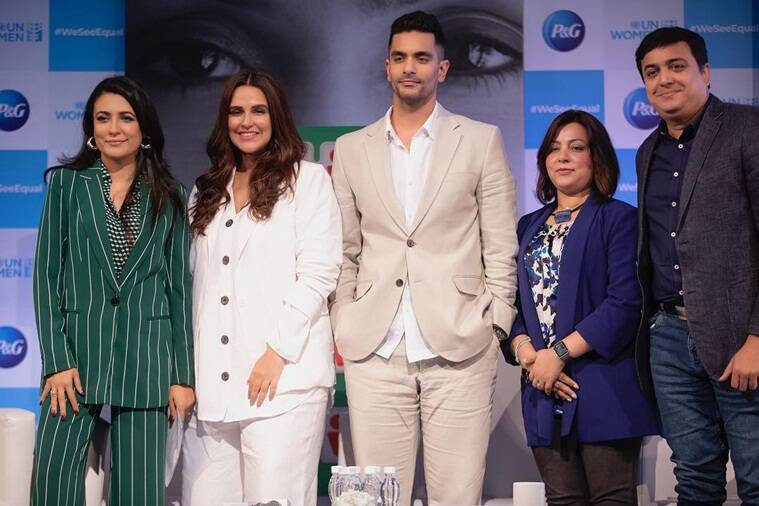 Neha Dhupia with Angad Bedi