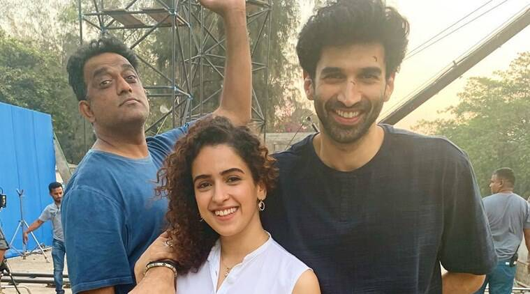 aditya roy kapur and sanya malhotra shooting for anurag basu film