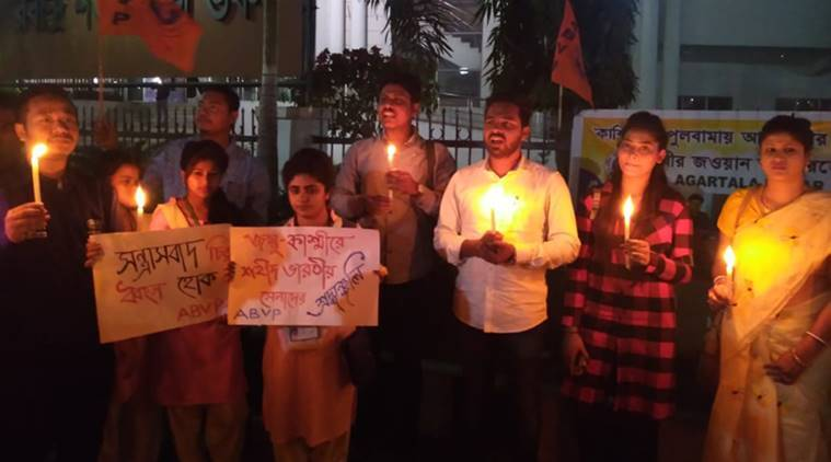 Pulwama Attack: Protest Erupt In Tripura, Student Leaders Call For Stern Action Against Pakistan