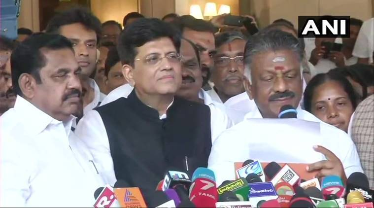 AIADMK-BJP announce pact for Lok Sabha elections in Tamil Nadu, Puducherry